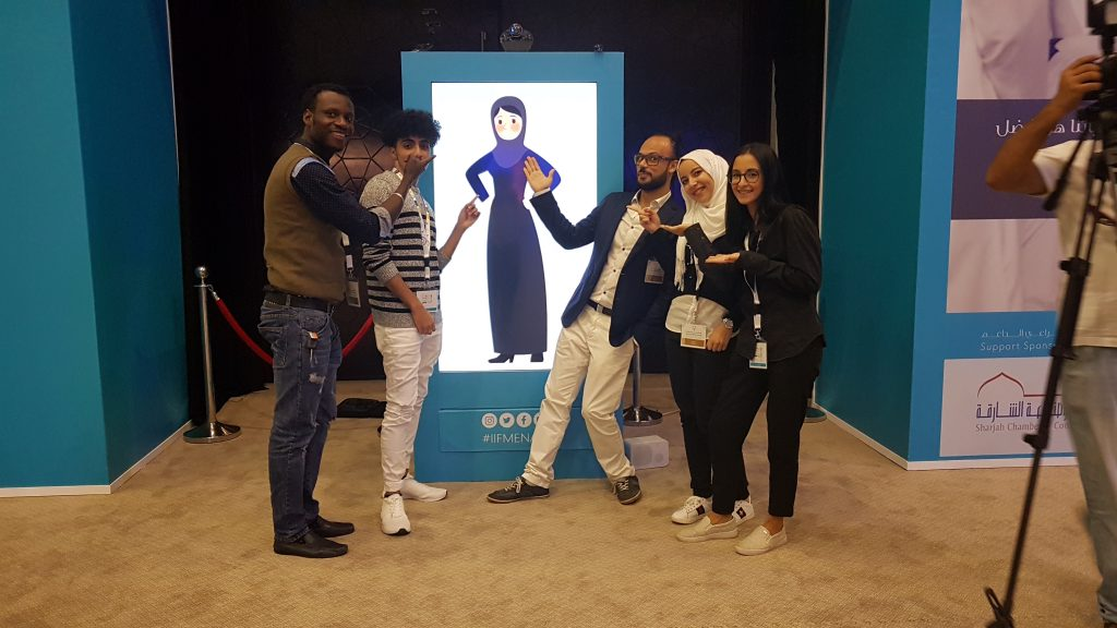 Audience engagement activation by PhysUX Lab in Sharjah